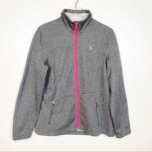 Spyder Grey Zip Core Sweater Jacket XL